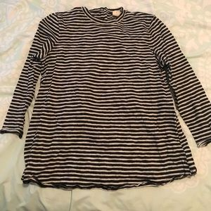 Striped Open Back Blouse